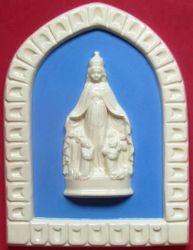 Immagine di Madonna di Monteberico Formella da Muro cm 25 (9,8 in) Bassorilievo Ceramica Robbiana