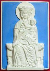 Immagine di Madonna delle Vertighe Quadro da Muro cm 30x20 (11,8x7,9 in) Bassorilievo Ceramica Robbiana