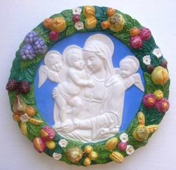 Picture of Madonna and Child Wall Tondo diam. cm 38 (15 in) Bas relief Glazed Ceramic Della Robbia