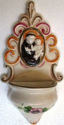 Picture of St. Anthony Holy Water Stoup cm 22 (8,7 in) Hand-painted Glazed Ceramic