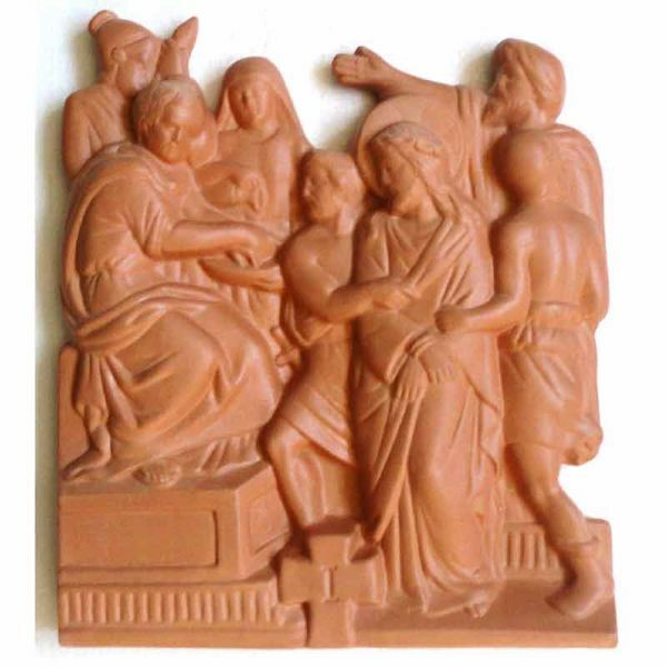 Picture of Via Crucis 14 or 15 Stations cm 30x25 (11,8x9,8 in) Bas relief Panels Deruta Terracotta Way of the Cross