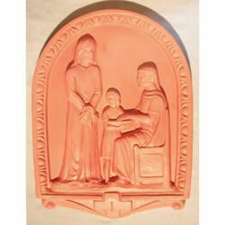 Picture of Via Crucis 14 or 15 Stations cm 50x36 (19,7x14,2 in) Bas relief Panels Terracotta Della Robbia Way of the Cross