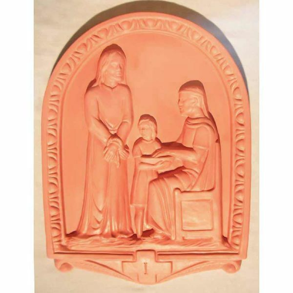 Immagine di Via Crucis 14 o 15 Stazioni cm 50x36 (19,7x14,2 in) Tavole Bassorilievo Terracotta Robbiana