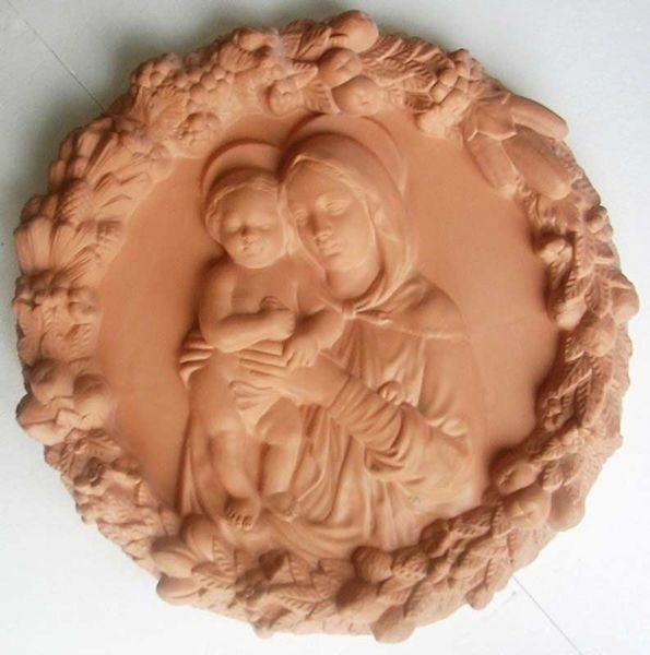 Picture of Madonna and Child Wall Tondo diam. cm 56 (22 in) Bas-relief Terracotta