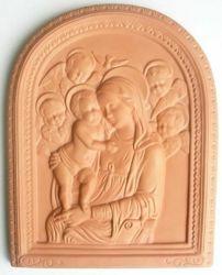 Immagine di Madonna di Boccadirio Pala da Muro cm 39x31 (15,4x12,2 in) Bassorilievo Terracotta