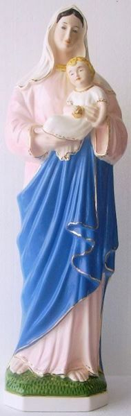 Imagen de Estatua Virgen con el Niño cm 60 (23,6 in) Mayólica vidriada de Deruta pintada a mano