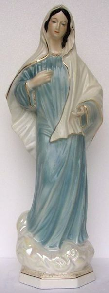 Picture of Statue Our Lady of Medjugorje cm 60 (23,6 in) Hand-painted glazed Ceramic of Deruta