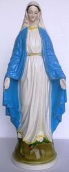 Picture of Statue Miraculous Virgin Mary cm 60 (23,6 in) Hand-painted glazed Ceramic of Deruta