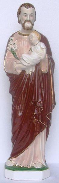 Picture of Statue Saint Joseph cm 60 (23,6 in) Hand-painted glazed Ceramic of Deruta