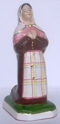 Picture of Statue St Bernadette of Lourdes cm 20 (7,9 in) Hand-painted glazed Ceramic of Deruta