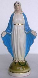 Picture of Statue Miraculous Virgin Mary cm 24 (9,4 in) Hand-painted glazed Ceramic of Deruta