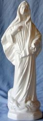 Picture of Statue Our Lady of Medjugorje cm 30 (11,8 in) Hand-painted glazed Ceramic of Deruta