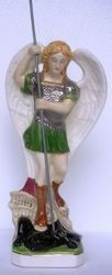 Picture of Statue St. Michael Archangel cm 31 (12,2 in) Hand-painted glazed Ceramic of Deruta