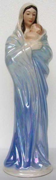 Immagine di Statua Ave Maria cm 34 (13,4 in) Ceramica invetriata di Deruta dipinta a mano