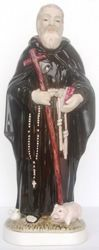 Picture of Statue St. Anthony Abbot cm 34 (13,4 in) Hand-painted glazed Ceramic of Deruta