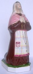 Picture of Statue St Bernadette of Lourdes cm 36 (14,2 in) Hand-painted glazed Ceramic of Deruta