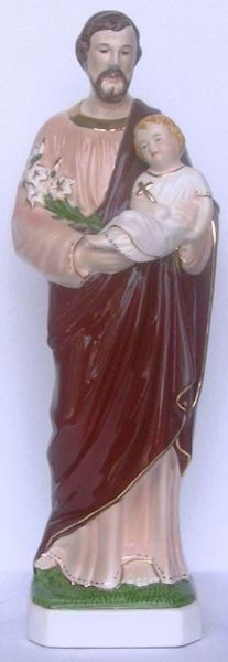 Picture of Statue Saint Joseph cm 50 (19,7 in) Hand-painted glazed Ceramic of Deruta