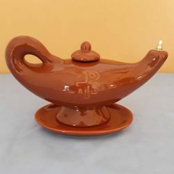 Picture of Votive Liquid Wax Aladdin Lamp cm 26 (10,2 in) Pax Symbol Ceramic Oil Lantern