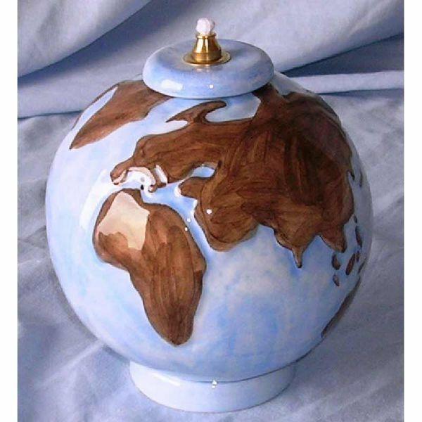 Imagen de Lámpara Votiva Cera Líquida cm 14 (5,5 in) World Candil Aceite Cerámica Coloreada