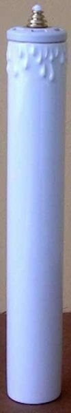 Picture of Set of 4 Liquid Wax White Altar Lanterns cm 4x25 (4x9,8 in) Candle Ceramic Oil Lamps