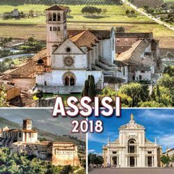 Picture of Assisi 2018 magnetic calendar cm 8x8 (3,1x3,1 in)