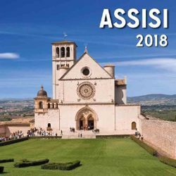 Picture of Assisi by day 2018 magnetic calendar cm 8x8 (3,1x3,1 in)
