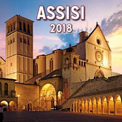 Picture of Assisi by night 2018 magnetic calendar cm 8x8 (3,1x3,1 in)