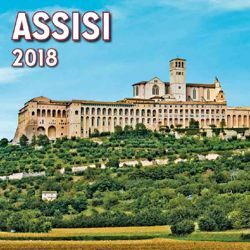 Picture of Assisi Panorama 2018 magnetic calendar cm 8x8 (3,1x3,1 in)