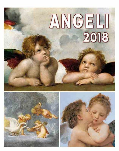 Picture of Angels 2018 wall and desk calendar cm 16,5x21 (6,5x8,3 in)