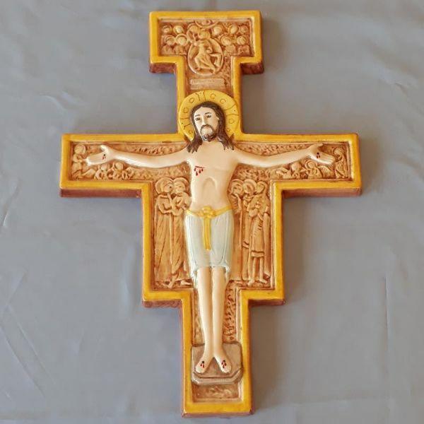 Crocifisso da Parete Croce San Damiano cm 36x28 (14,2x11 in) in ...