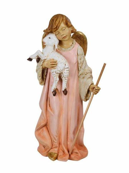 Picture of Angel with Lamb cm 125 (50 Inch) Fontanini Nativity Statue for Outdoor use, hand painted Resin