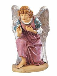 Picture of Kneeling Angel cm 125 (50 Inch) Fontanini Nativity Statue for Outdoor use, hand painted Resin