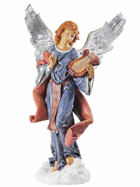 Picture of Standing Angel cm 125 (50 Inch) Fontanini Nativity Statue for Outdoor use, hand painted Resin