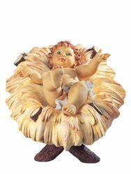 Picture of Baby Jesus and Cradle cm 125 (50 Inch) Fontanini Nativity Statue for Outdoor use, hand painted Resin