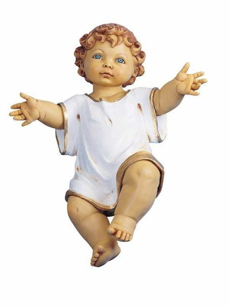 Picture of Baby Jesus cm 125 (50 Inch) Fontanini Nativity Statue for Outdoor use, hand painted Resin