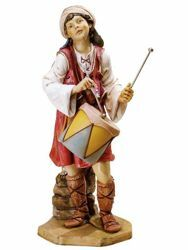 Picture of Shepherd with Drum cm 125 (50 Inch) Fontanini Nativity Statue for Outdoor use, hand painted Resin