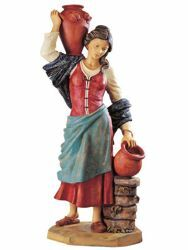 Picture of Shepherdess with Jugs cm 125 (50 Inch) Fontanini Nativity Statue for Outdoor use, hand painted Resin