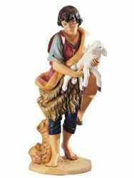 Picture of Shepherd with Sheep cm 125 (50 Inch) Fontanini Nativity Statue for Outdoor use, hand painted Resin