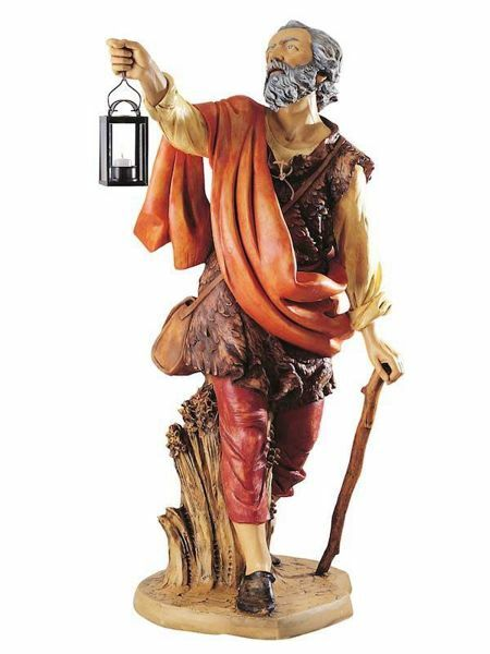 Picture of Shepherd with Lantern cm 125 (50 Inch) Fontanini Nativity Statue for Outdoor use, hand painted Resin