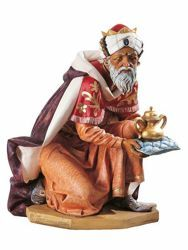 Picture of Wise King Caspar Standing cm 125 (50 Inch) Fontanini Nativity Statue for Outdoor use, hand painted Resin