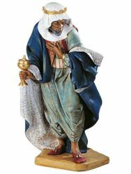 Picture of Wise King Balthazar Standing cm 125 (50 Inch) Fontanini Nativity Statue for Outdoor use, hand painted Resin