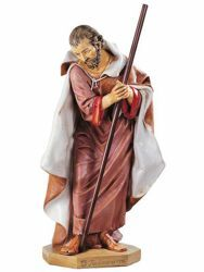 Picture of Saint Joseph cm 125 (50 Inch) Fontanini Nativity Statue for Outdoor use, hand painted Resin