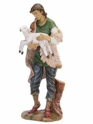Picture of Shepherd with Sheep cm 180 (70 Inch) Fontanini Nativity Statue for Outdoor use, hand painted Resin