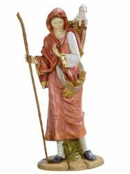Picture of Shepherdess with Lamb cm 180 (70 Inch) Fontanini Nativity Statue for Outdoor use, hand painted Resin