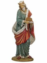 Picture of Wise King Melchior Standing cm 180 (70 Inch) Fontanini Nativity Statue for Outdoor use, hand painted Resin