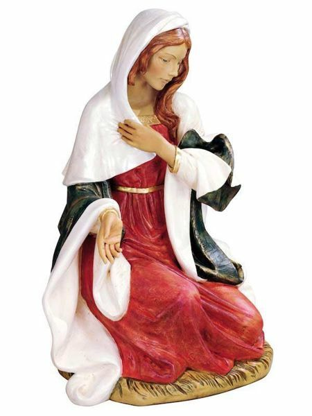 Picture of Mary cm 180 (70 Inch) Fontanini Nativity Statue for Outdoor use, hand painted Resin