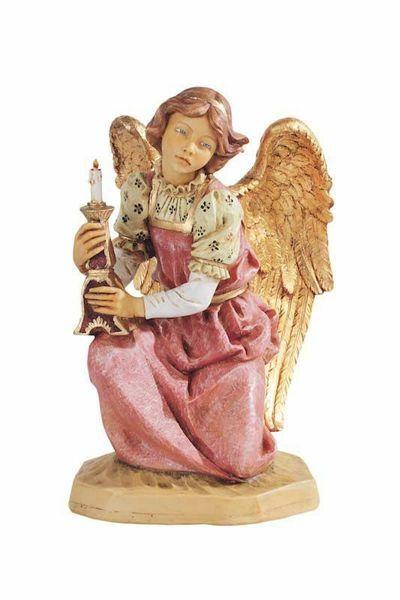 Imagen de Ángel cm 52 (20 Inch) Belén Fontanini Estatua para al Aire Libre en Resina pintada a mano