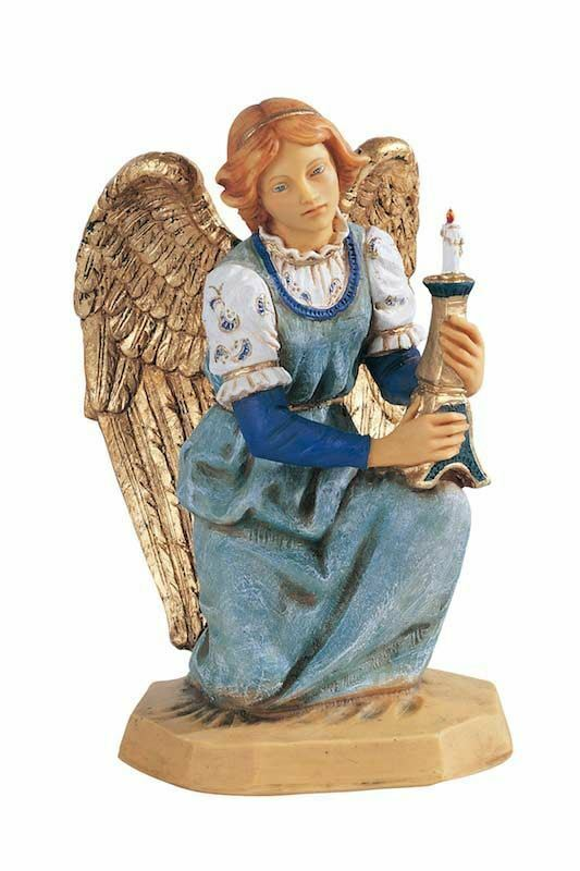 angelo in ginocchio cm 52 20 inch presepe fontanini statua per esterno in resina dipinta a. Black Bedroom Furniture Sets. Home Design Ideas