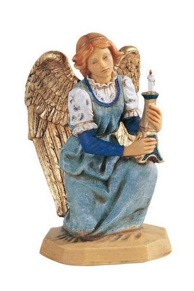 Picture of Kneeling Angel cm 52 (20 Inch) Fontanini Nativity Statue for Outdoor use, hand painted Resin