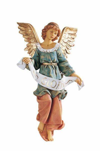 Imagen de Ángel Gloria cm 52 (20 Inch) Belén Fontanini Estatua para al Aire Libre en Resina pintada a mano